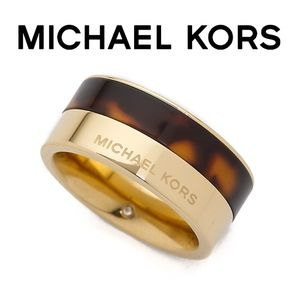 New! [Michael Kors] Tortoise and Gold Ring Size 8